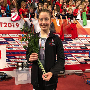 Ana Padurariu captures silver at 2019 Stuttgart Gymnastics World Cup