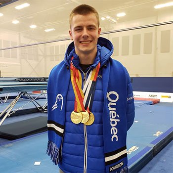 Aubin claims third gold medal with win in synchro trampoline for Team Quebec