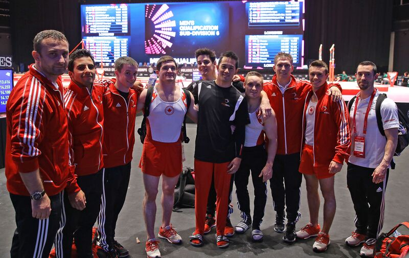 Canada advances to final Olympic qualification event in men's gymnastics at 2015 world championships
