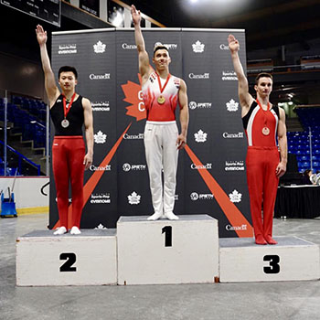 Justin Karstadt Wins Senior All-around title at 2019 Elite Canada Men's Artistic Gymnastics competition