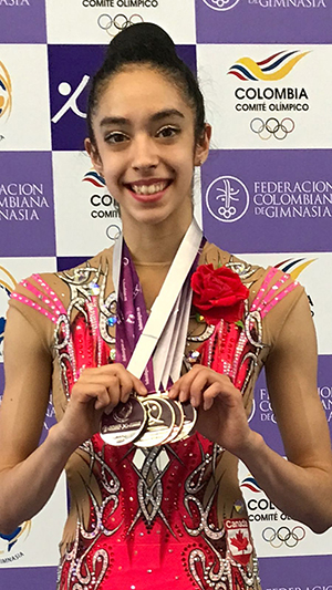 Five Medals for Garcia at Junior Pan American Championship in Rhythmic Gymnastics