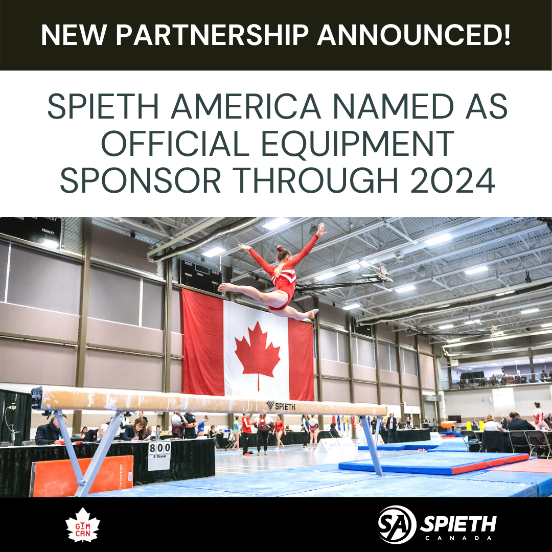 Gymnastics Canada Announces Partnership with Spieth America as Official Equipment Supplier