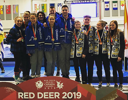 Team Quebec wins gold in team trampoline competition at 2019 Canada Games