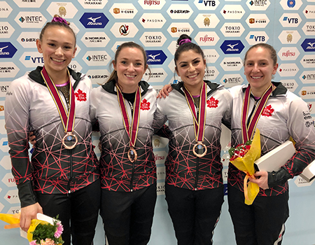 Canada captures bronze in women's team trampoline at World Championships