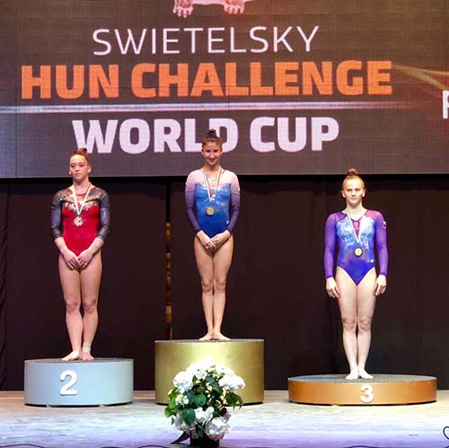 Silver medal for Denommée at Artistic Gymnastics World Challenge Cup