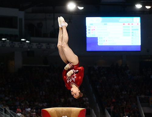 Ellie Black takes bronze on vault on day 1 of apparatus finals at Pan Am Games.
