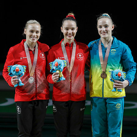Six medal day for Canadian artistic gymnasts on first day of apparatus finals at 2018 Commonwealth Games