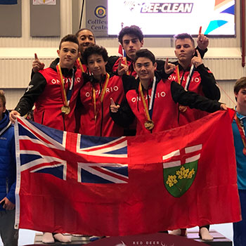 Team Ontario takes gold in men's artistic gymnastics team final at Canada Games