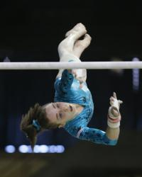 Onyshko, Woo reach finals at gymnastics World Cup in Ljubljana, Slovenia