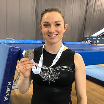 MacLennan captures silver medal at Trampoline World Cup in Baku