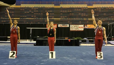Dolci captures gold in junior all-around competition at the University of Calgary International Cup