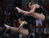 MacLennan, Sendel bounce to synchro silver at trampoline World Cup in St. Petersburg