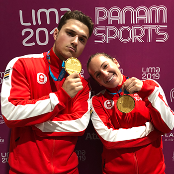 Double gold for Chartier & Smith on trampoline to close 2019 Pan Am Games gymnastics competition
