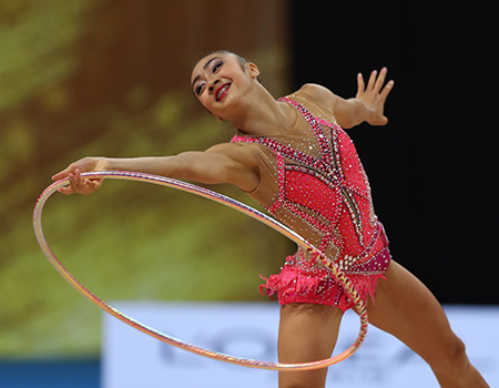 Strong results for Uchida & Crane at 2019 Rhythmic Gymnastics World Cup in Pesaro